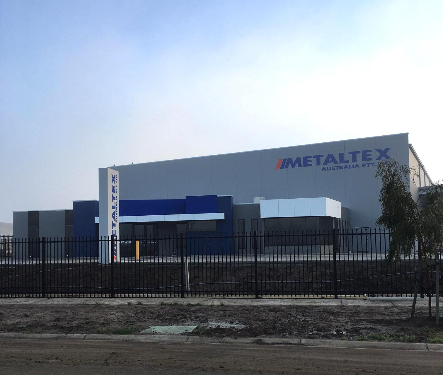 metaltex new building factory melbourne victoria