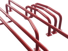 powdercoated bump rails